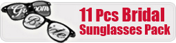 11 Pcs Bridal Sunglasses Pack